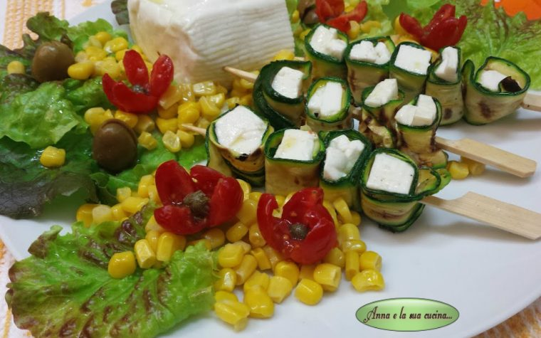 Insalata di verdure miste e stracchino