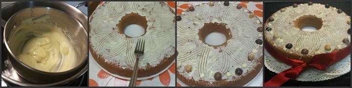 Ciambella soffice con cioccolato e nocciole