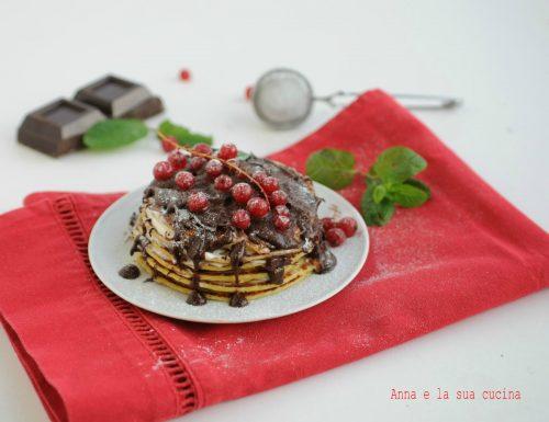 Pancakes con formaggio e cioccolato