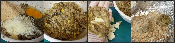 Polpette di lenticchie con semi di sesamo Ingredienti: