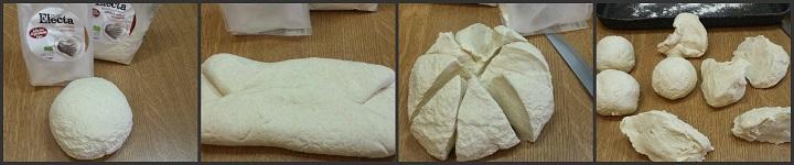 Fiore di pane con curcuma