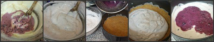 Cheesecake leggera ai mirtilli