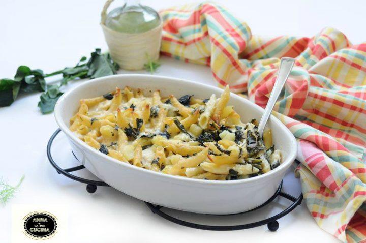 Pasta patate e broccoli al forno