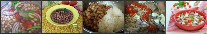 Insalata di fagioli e riso basmati