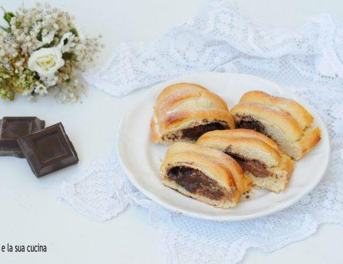 Rotolo di pan brioche con cioccolato