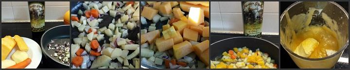Vellutata di zucca, patate e carota