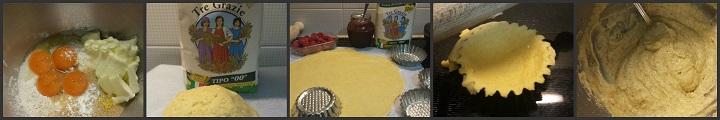 Crostatine ai lamponi e crema frangipane