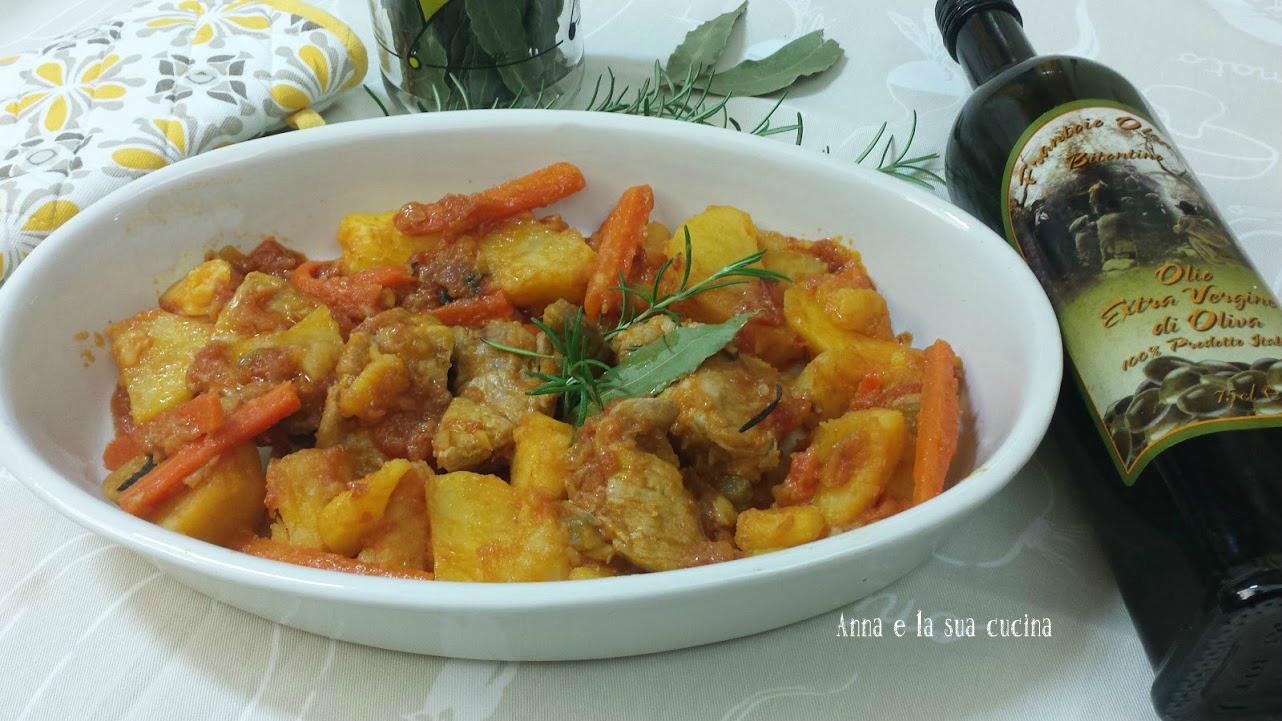 Spezzatino di maiale con patate e carote   Anna e la sua cucina