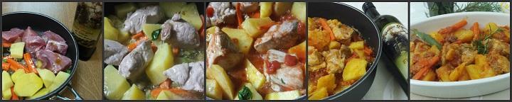 Spezzatino di maiale con patate e carote