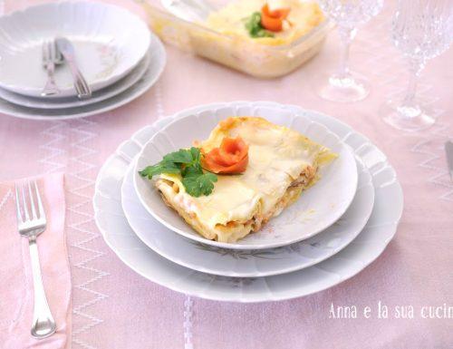 Lasagne al salmone e besciamella