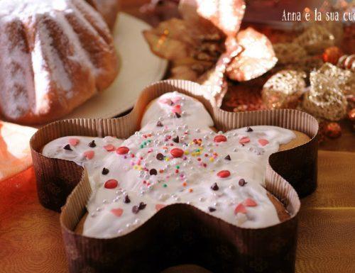 Stella di pandoro con cioccolato bianco