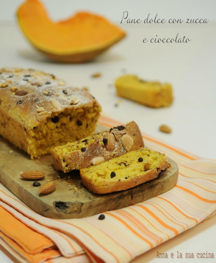Pane dolce con zucca e cioccolato