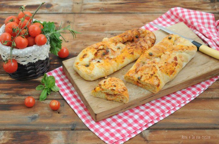 Ciabatte di pane farcite gusto pizza