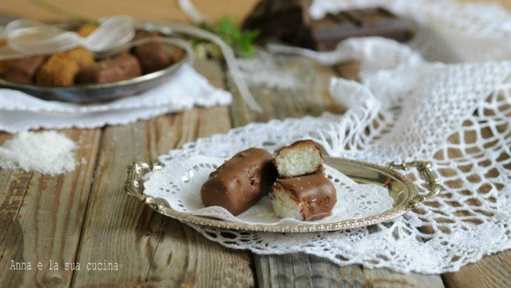 Cioccolatini con crema al cocco
