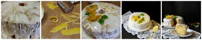 Chiffon cake con glassa al limone