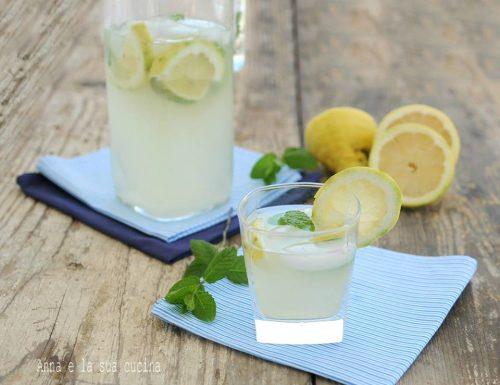 Acqua dissetante con limone lime e menta