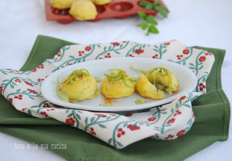 Mini gateau di patate con cuore di zucchine