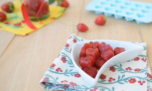 Cuori di gelatine alle fragole