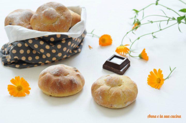 Panini dolci alla zucca e cioccolato