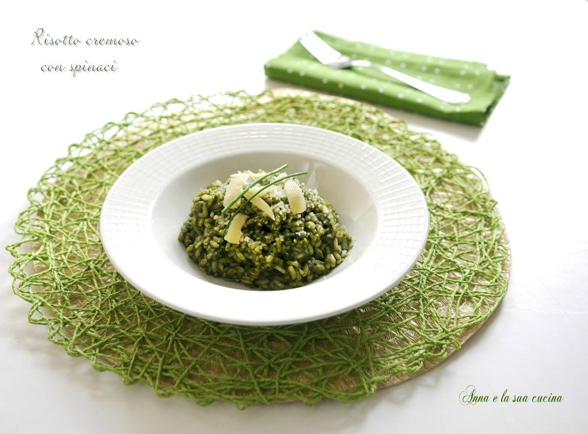 Risotto cremoso con spinaci