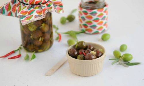 Olive intaccate sott'olio ricetta calabrese