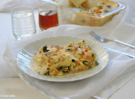 Lasagne con verdure e besciamella