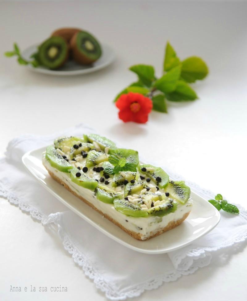 Mattonella al kiwi e formaggio