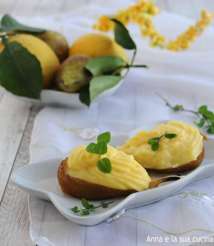 Pera farcita con crema al limone