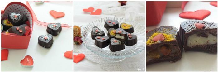 Cioccolatini a forma di cuore ripieni