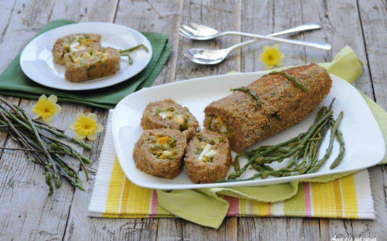 Polpettone primaverile con asparagi e uova