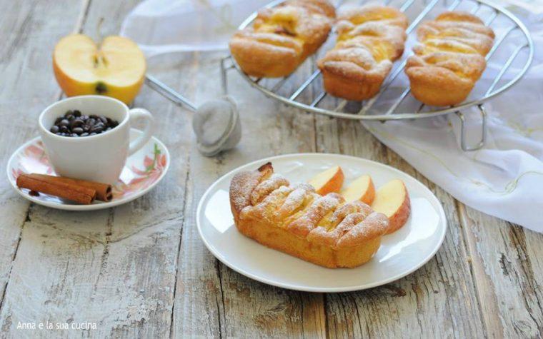 Mini plumcake con mela al profumo di limone e cannella