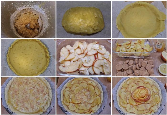 Crostata di mele con marmellata e amaretti