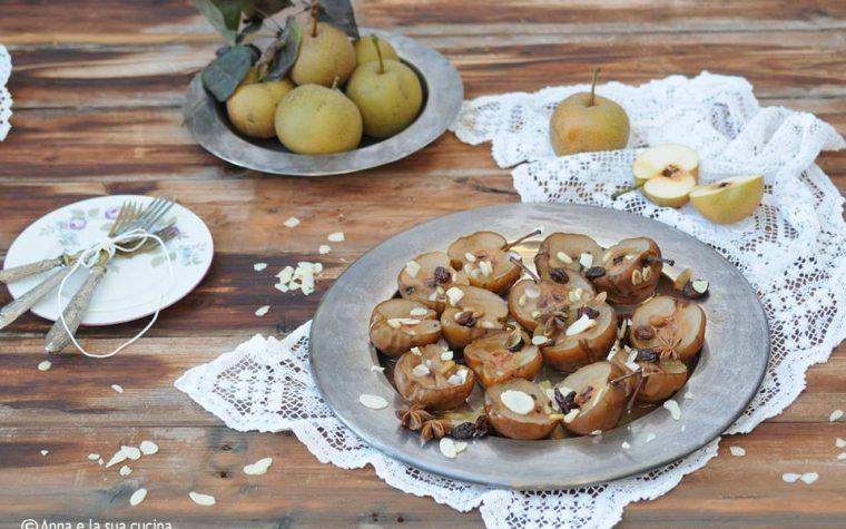 Pere nashi al forno con frutta secca