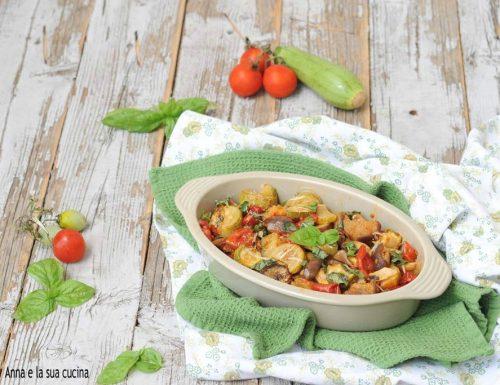 Verdure al forno con parmigiano