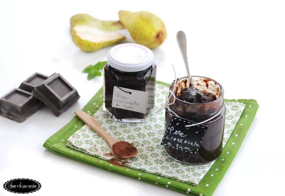 Confettura di pere con cioccolato e rum