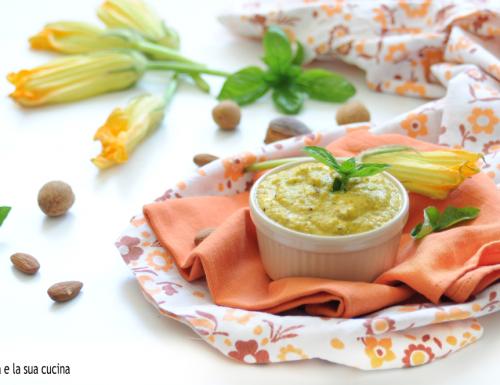 Pesto di fiori di zucca con cottura