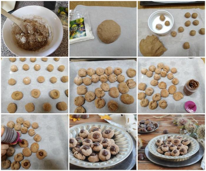 Biscotti con farina e crema di castagne