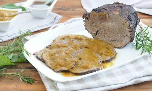 Arrosto di manzo con salsina