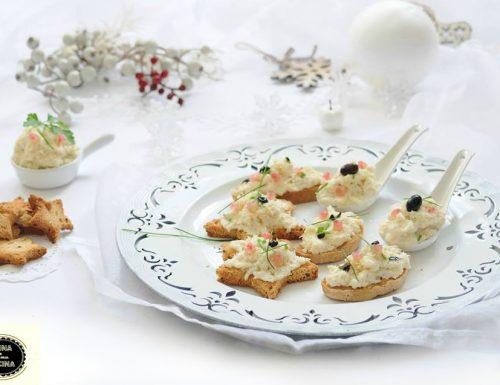 Crostini con baccalà mantecato