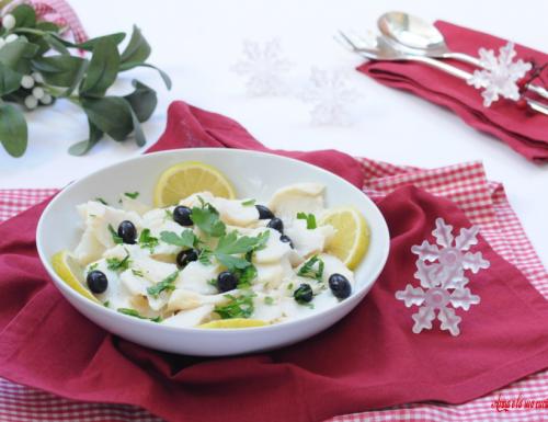 Insalata di stoccafisso o baccalà con olive