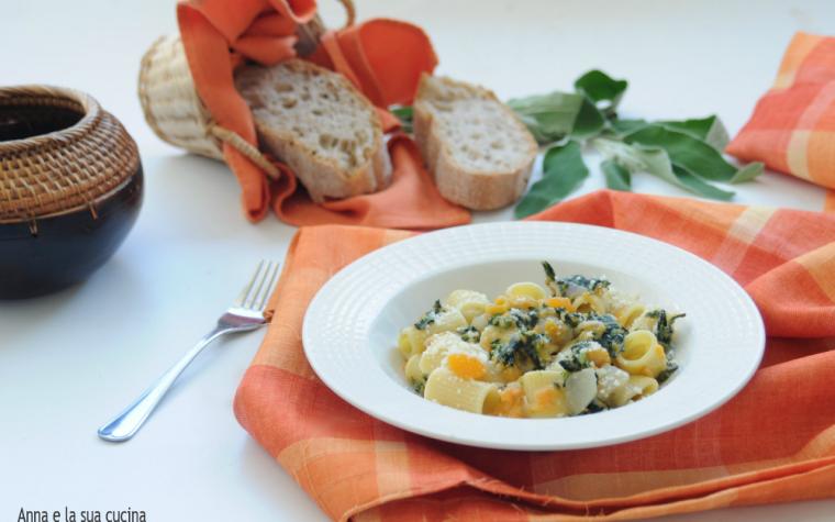 Pasta con zucca broccoli e gorgonzola