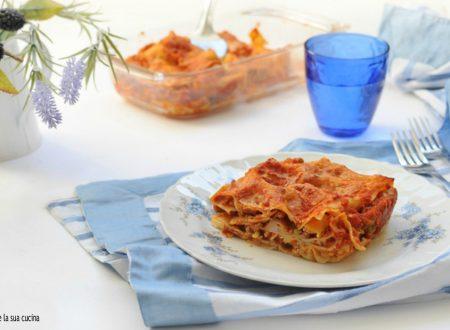 Lasagne precotte al ragù di carne