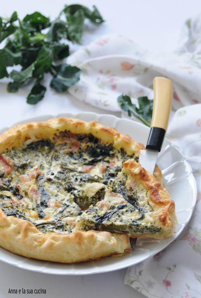 Torta Salata di Sfoglia Ripiena di Broccoli