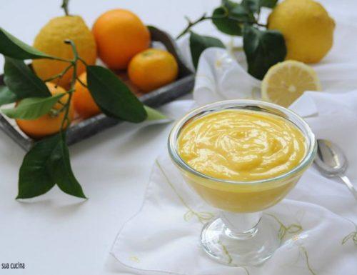Crema agli agrumi al latte senza uova