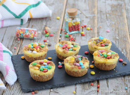 Mini cheesecakes con smarties