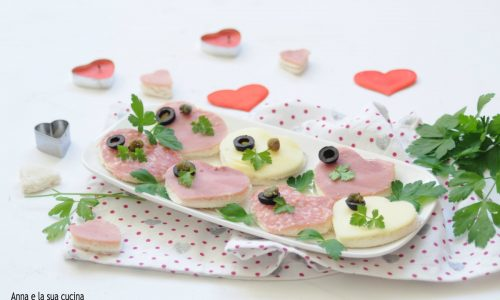 Cuori di tartine per San Valentino