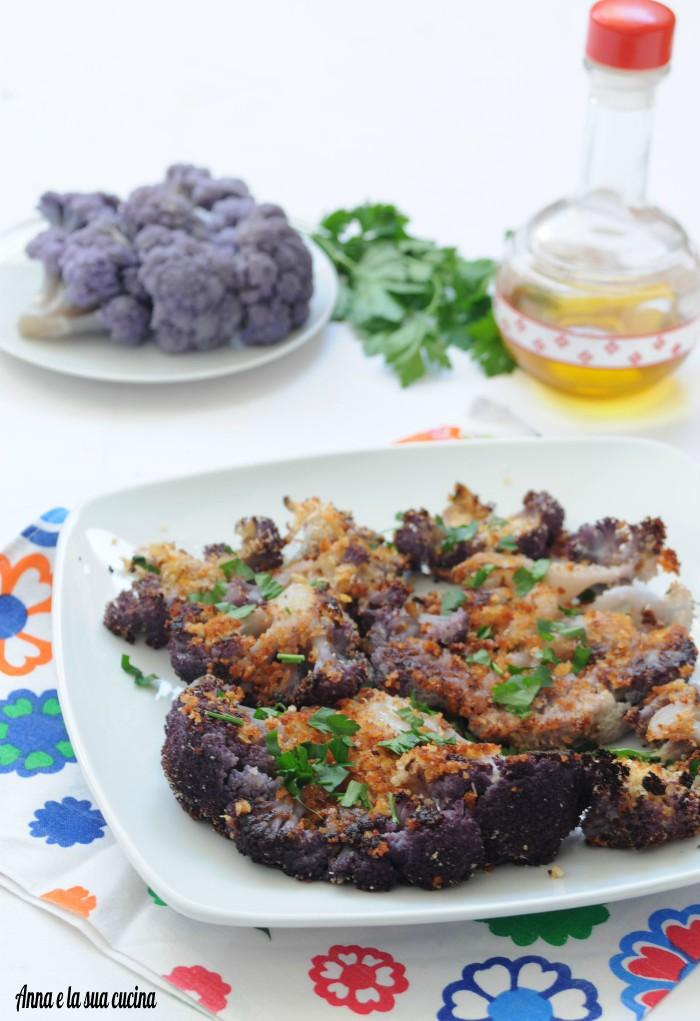 Cavolfiore viola gratinato al forno