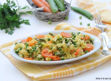 Cous cous con verdure e zafferano