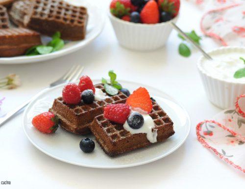 Mini waffle al cacao impasto veloce