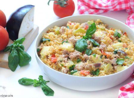 Cous cous con verdure tonno e mozzarella
